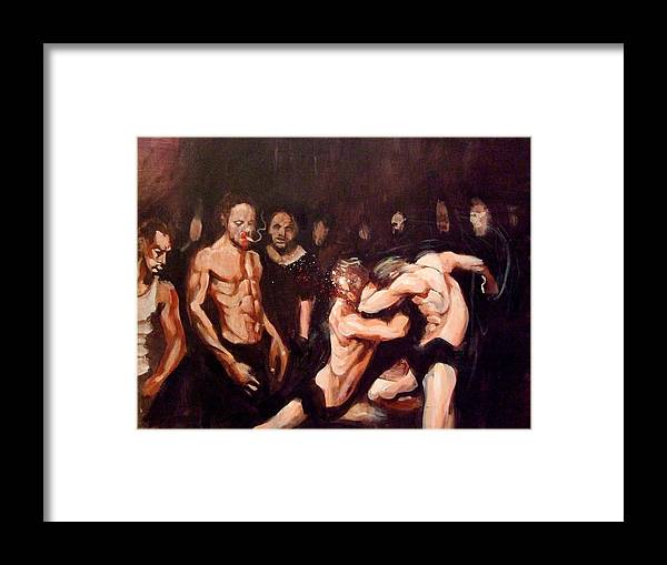 Fight Framed Print featuring the painting Untitled by Chris Slaymaker
