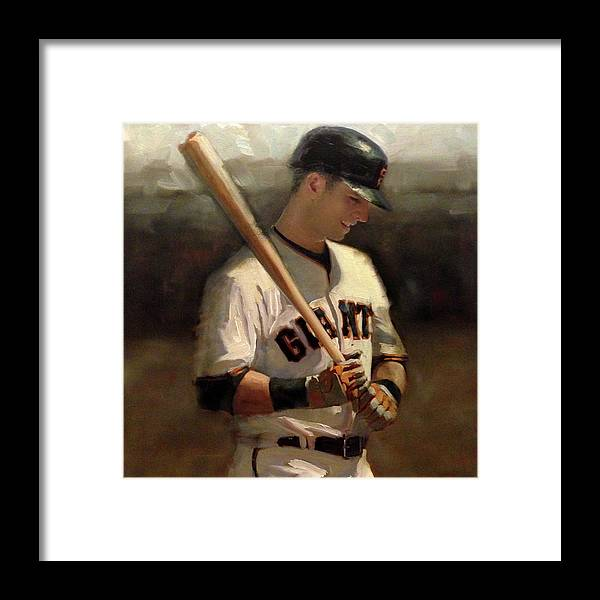 Buster Posey Framed Print featuring the painting Untitled 2 by Darren Kerr