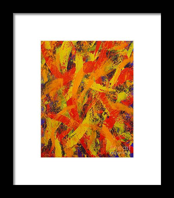 Abstract Framed Print featuring the painting Untitled by Dean Triolo