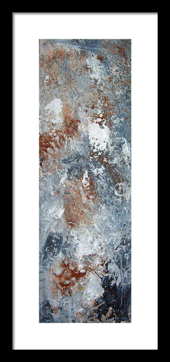 Acrylix Framed Print featuring the painting Untitled by Elizabeth Klecker