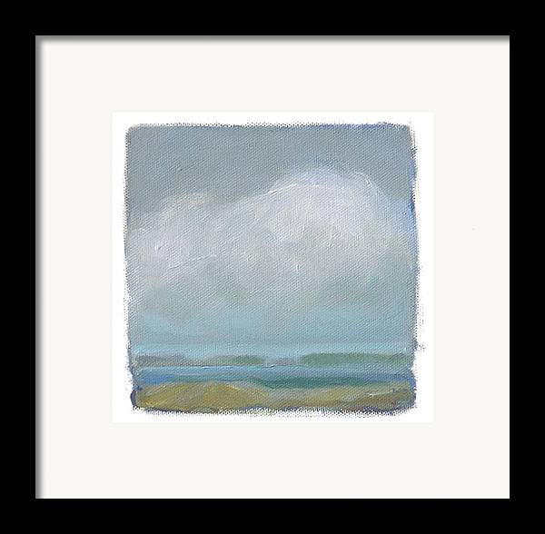 Landscape Framed Print featuring the painting Untitled by Mary Brooking