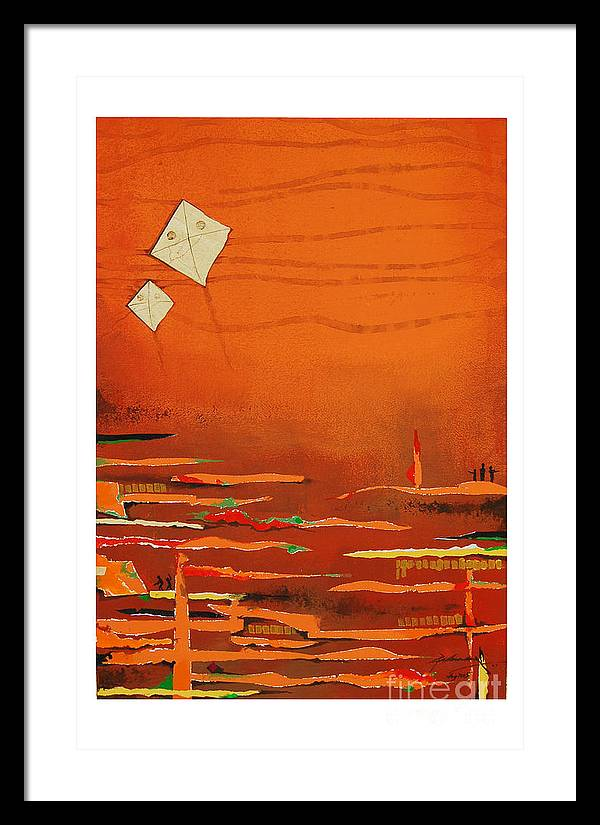 Abstract Framed Print featuring the mixed media Untitled by Padmakar Kappagantula
