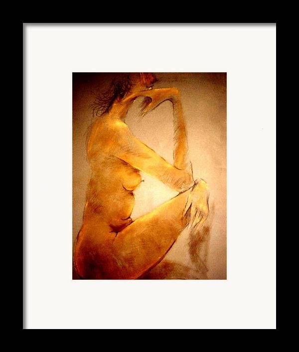 Nude Framed Print featuring the painting Untitled by Paul Miller
