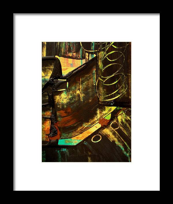 Mixed Media Print Framed Print featuring the painting Untitled by Teo Santa