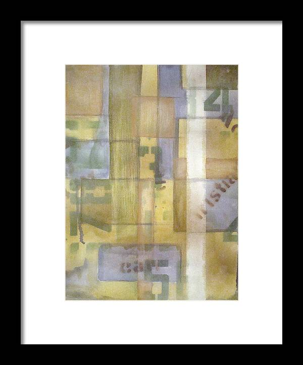 Abstract Framed Print featuring the painting Untitled by W Todd Durrance