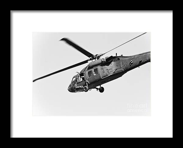 Helicopter Framed Print featuring the photograph Us Army Blackhawk by Brenton Woodruff