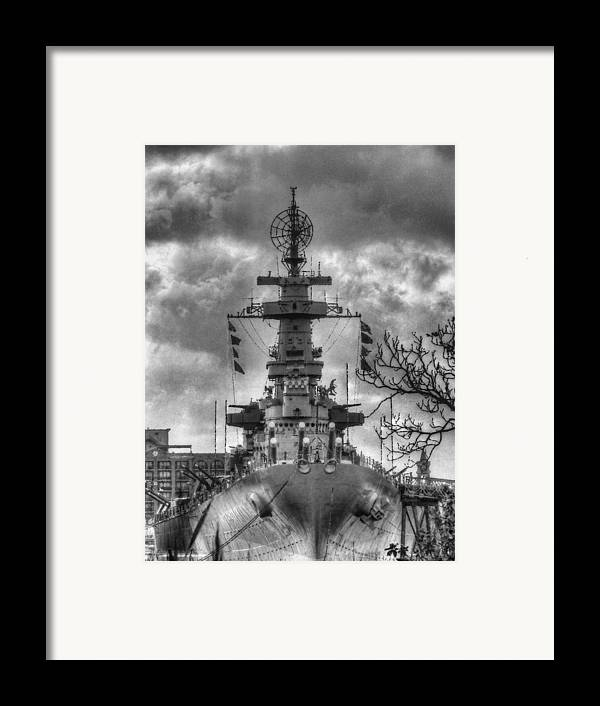 Wilmington North Carolina Framed Print featuring the photograph U.s.s. North Carolina by JC Findley