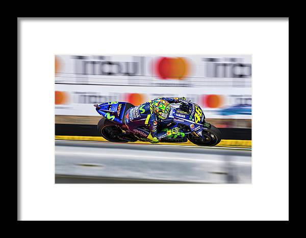 Andrea Dovizioso Framed Print featuring the photograph Valentino Rossi The Doctor by Srdjan Petrovic
