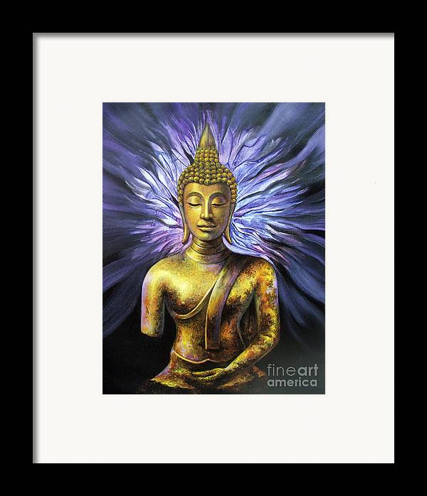 Acrylic Framed Print featuring the painting Virtue by Chonkhet Phanwichien