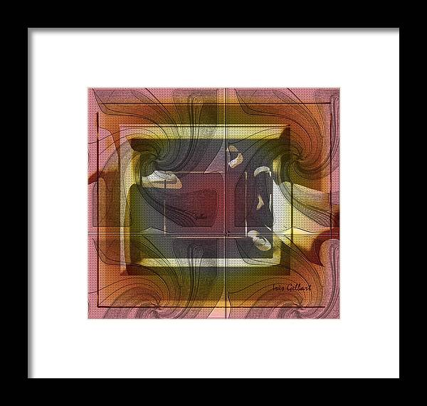 Abstract Framed Print featuring the digital art Warmth by Iris Gelbart