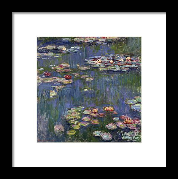 Monet Framed Print featuring the painting Water Lilies, 1916 by Claude Monet