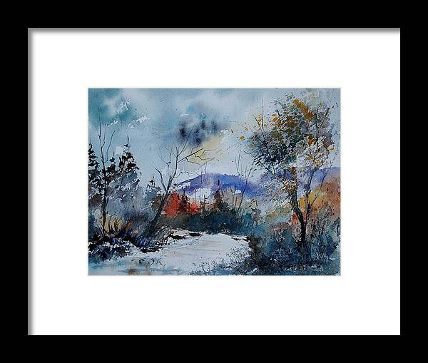Winter Framed Print featuring the painting Watercolor 802120 by Pol Ledent