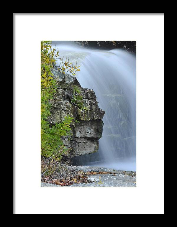 Waterfall Framed Print featuring the photograph Waterfall Detail by Stephen Vecchiotti