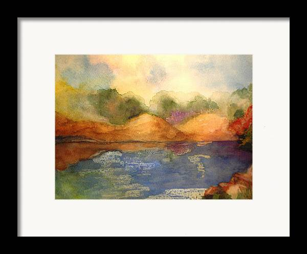 Landscape Framed Print featuring the painting Whimsy by Vivian Mosley