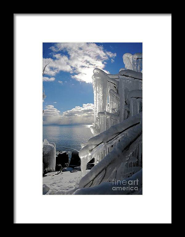 Lake Superior Framed Print featuring the photograph Winter Beauty by Sandra Updyke