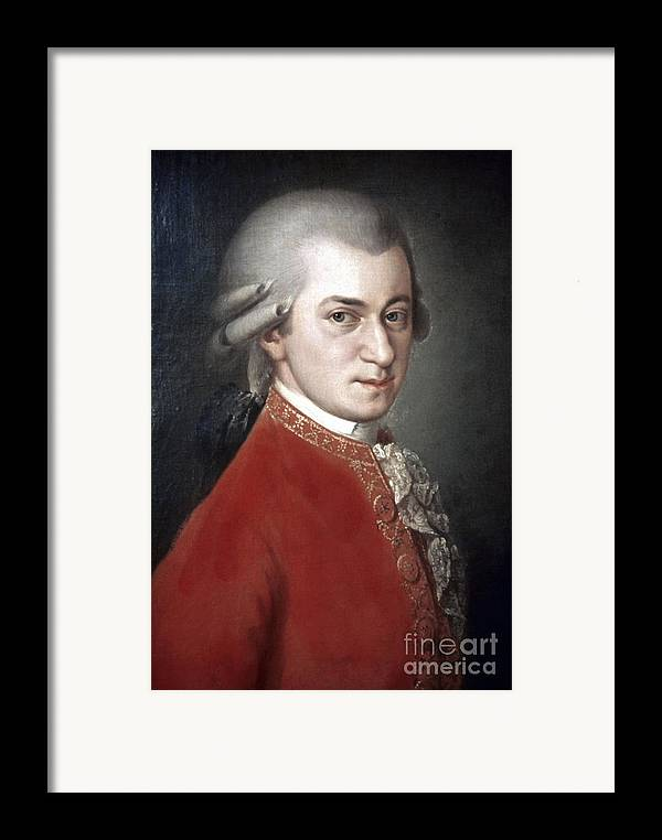 18th Century Framed Print featuring the photograph Wolfgang Amadeus Mozart by Granger