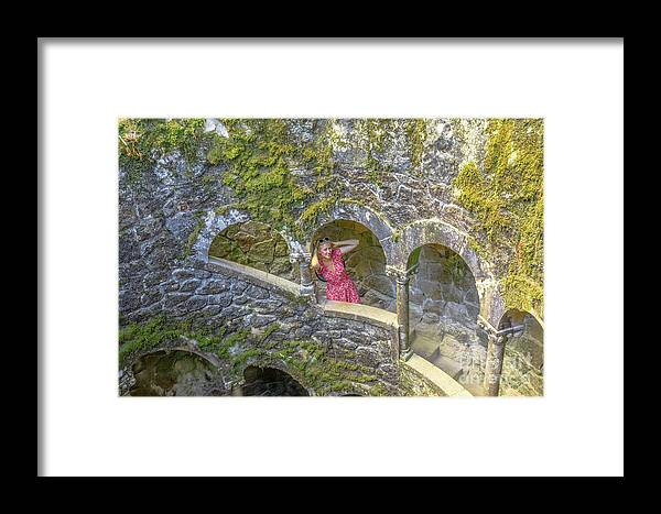 Sintra Framed Print featuring the photograph Woman Tourist In Sintra by Benny Marty