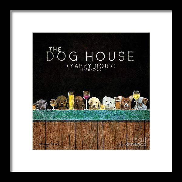 Will Bullas Framed Print featuring the painting Yappy Hour... by Will Bullas