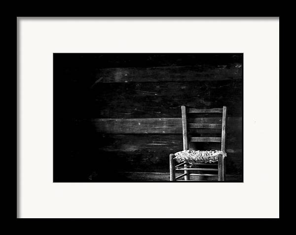 Chair Framed Print featuring the photograph You Have A Place In My Heart And In My Home by Ruben Flanagan