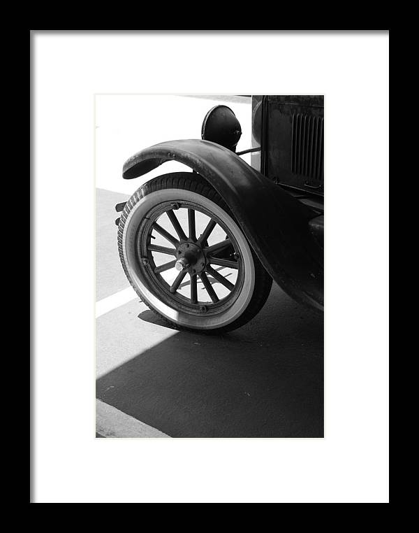 Black And White Framed Print featuring the photograph 1926 Model T Ford by Rob Hans