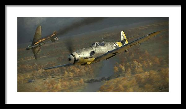 Wwii Framed Print featuring the digital art 200 - Painterly by Robert Perry