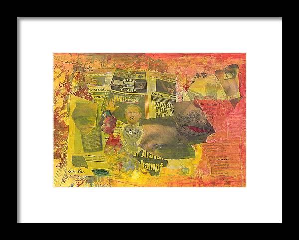 November Framed Print featuring the mixed media 2004 November by Michael Puya