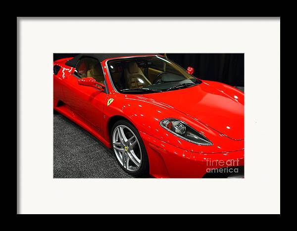 Transportation Framed Print featuring the photograph 2006 Ferrari F430 Spider . 7d9385 by Wingsdomain Art and Photography