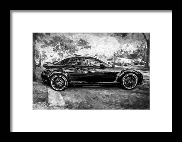 2008 Mazda Rx8 Painted Bw Framed Print