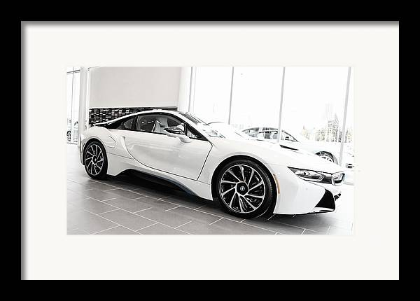 Bmw Framed Print featuring the photograph 2014 Bmw E Drive I8 by Aaron Berg