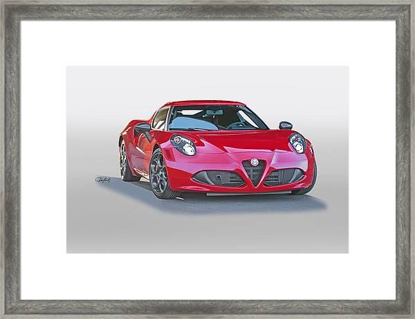 2015 Alfa Romeo C4 Framed Print By Dave Koontz