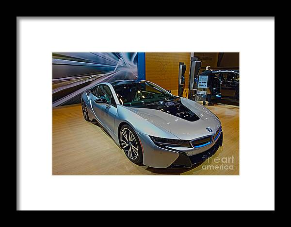 Auto Framed Print featuring the photograph 2015 Bmw I8 Hybrid by Alan Look