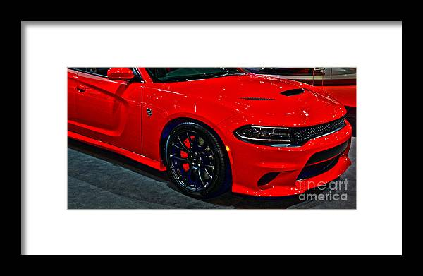 Auto Framed Print featuring the photograph 2015 Dodge Charger Srt Hellcat by Alan Look