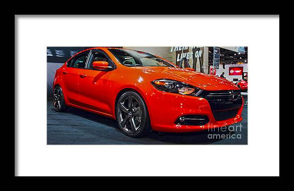 Auto Framed Print featuring the photograph 2015 Dodge Dart by Alan Look