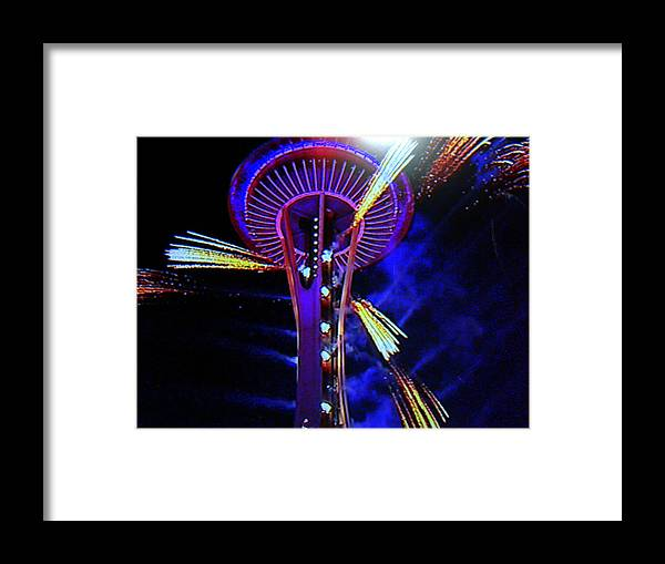 Space Needle Framed Print featuring the photograph 2016 At The Space Needle by Maro Kentros