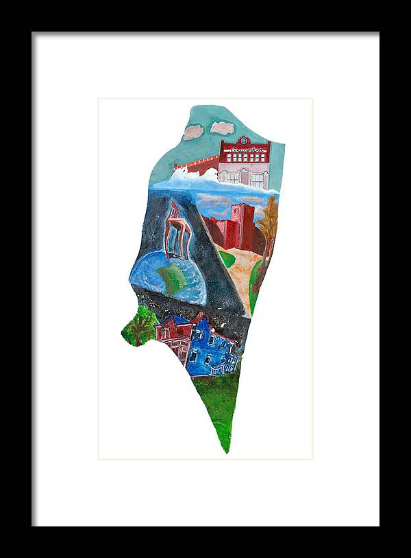 District Of Columbia Framed Print featuring the painting 2016 Dc Ward Story Collection - Ward 8 Of 8 by Paints Institute