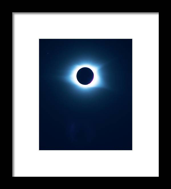 Pat Framed Print featuring the photograph 2017 Full Eclipse by Pat Turner
