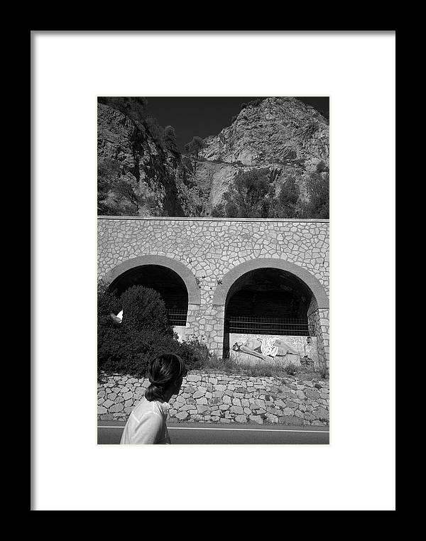 Liguria Framed Print featuring the photograph 2017 Malpasso Con Murales by Roberto Ferrero