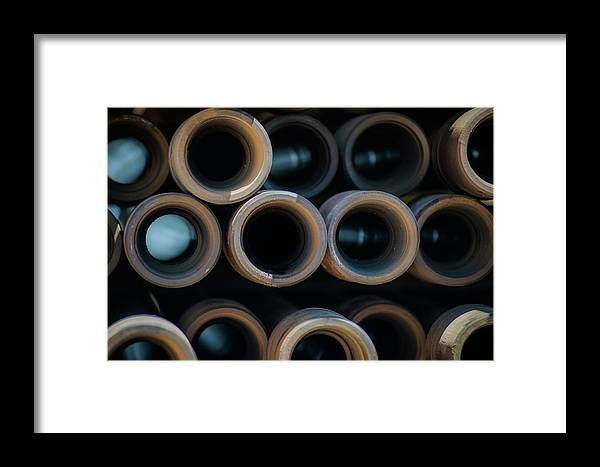 Drillers Club Framed Print featuring the photograph 2017_05_midland Tx_drill Pipe Lights 2 by Brian Farmer