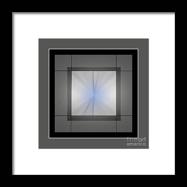 Abstract Framed Print featuring the digital art 2025-2017 by John Krakora