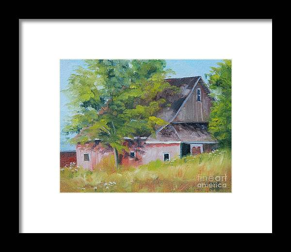 Landscape Framed Print featuring the painting 20th Road And 331 by Mike Yazel