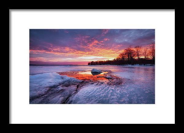 16-35 Framed Print featuring the photograph Lake Winnipesaukee by Robert Clifford
