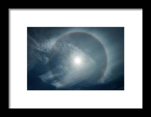 22 Degree Halo Framed Print featuring the photograph 22 Degree Solar Halo by William Freebilly photography