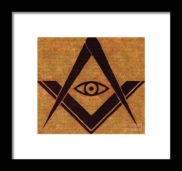 Freemason Masonic Symbols Framed Print By Pierre Blanchard