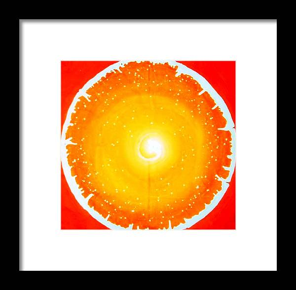 Circle Framed Print featuring the painting Life In Circle by Baljit Chadha