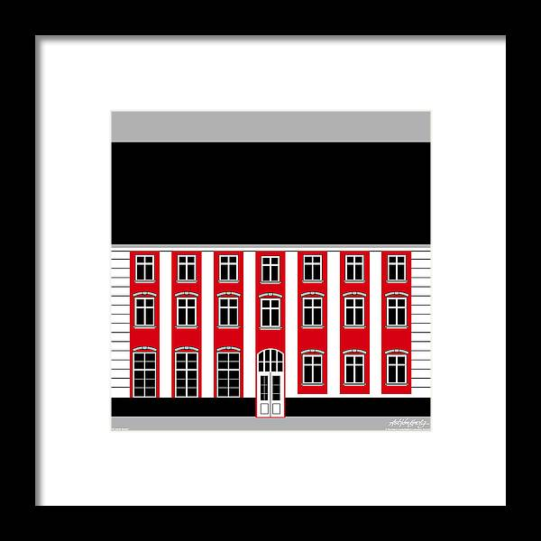 22 North Street Framed Print featuring the painting 22 North Street by Asbjorn Lonvig