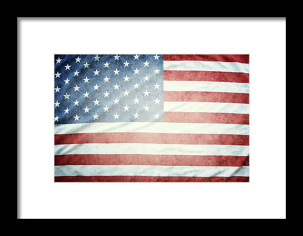 American Flag Framed Print featuring the photograph American Flag 37 by Les Cunliffe