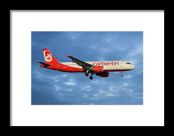 Air Berlin Framed Print featuring the photograph Air Berlin Airbus A320-214 by Smart Aviation