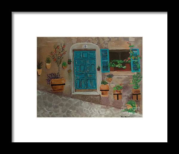 Blue Framed Print featuring the painting 23 by Kelly Delvalle