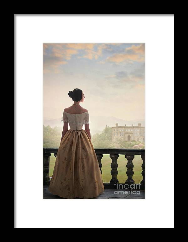 Victorian Framed Print featuring the photograph Victorian Woman by Lee Avison