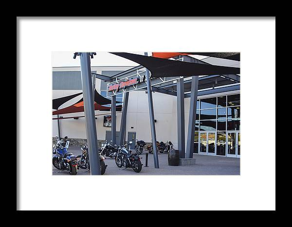 Harley-davidson Motor Cycles Framed Print featuring the photograph Screw It, Just Ride by Marit Runyon
